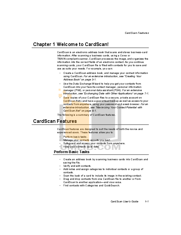pdf manual for cardscan scanner 500 rh umlib com CardScan Software CardScan Executive