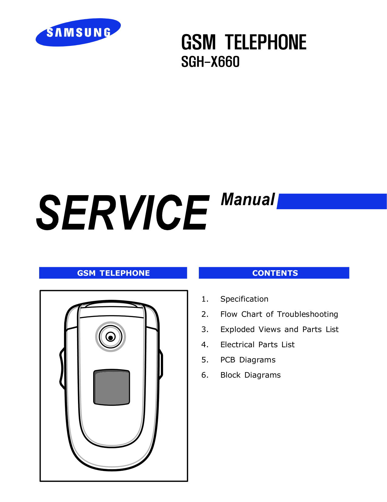 pdf for Samsung Cell Phone SGH-X660 manual