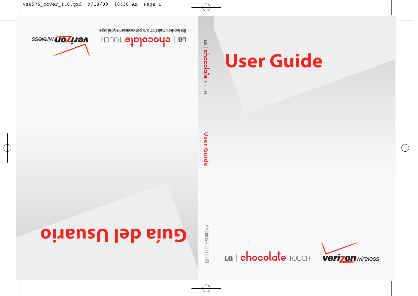 pdf for LG Cell Phone Chocolate Touch manual