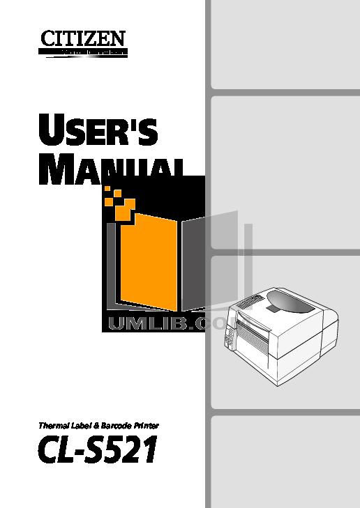pdf for Citizen Printer CL-S521 manual