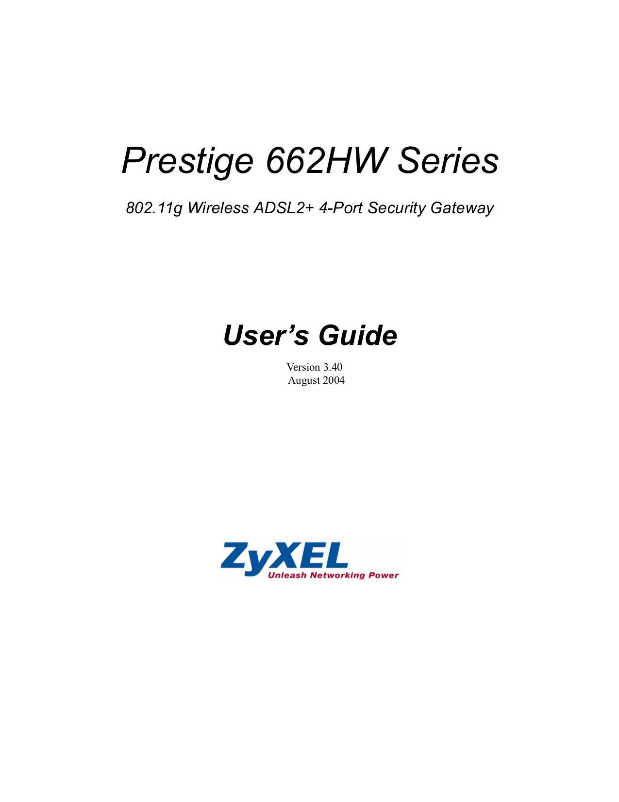 pdf for Zyxel Wireless Router P-662HW-67 manual