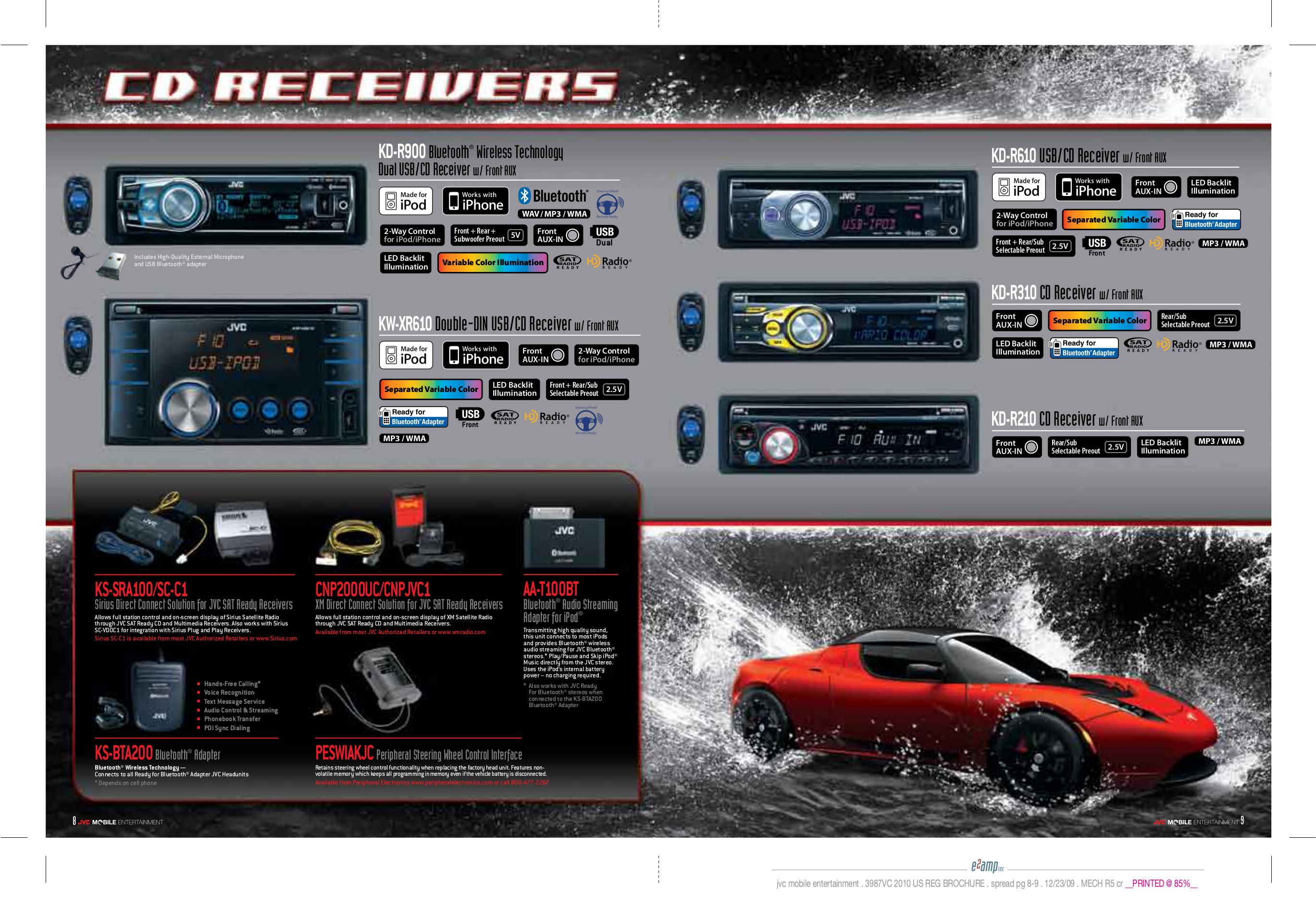 ... JVC Car Receiver KD-HDR60 pdf page preview ...