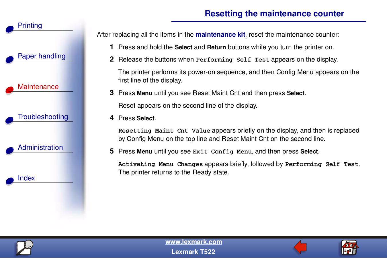 pdf for Lexmark Printer T630dtn manual