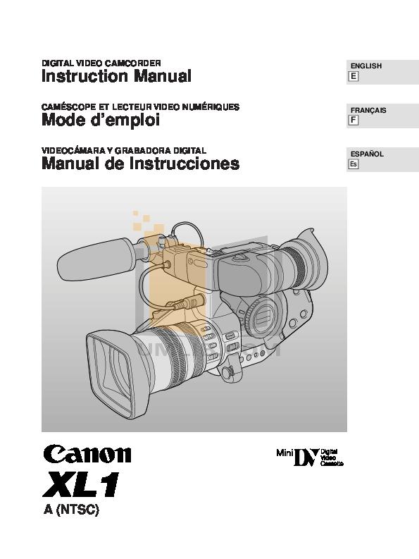 download free pdf for canon xl1 camcorders manual rh umlib com Operators Manual Owner's Manual