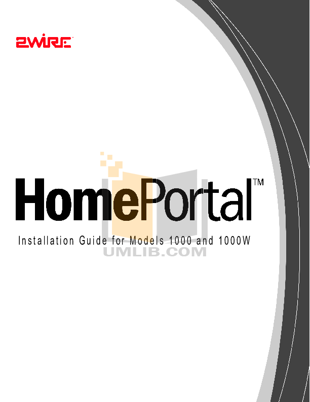pdf for 2wire Other 1000 Gateway manual