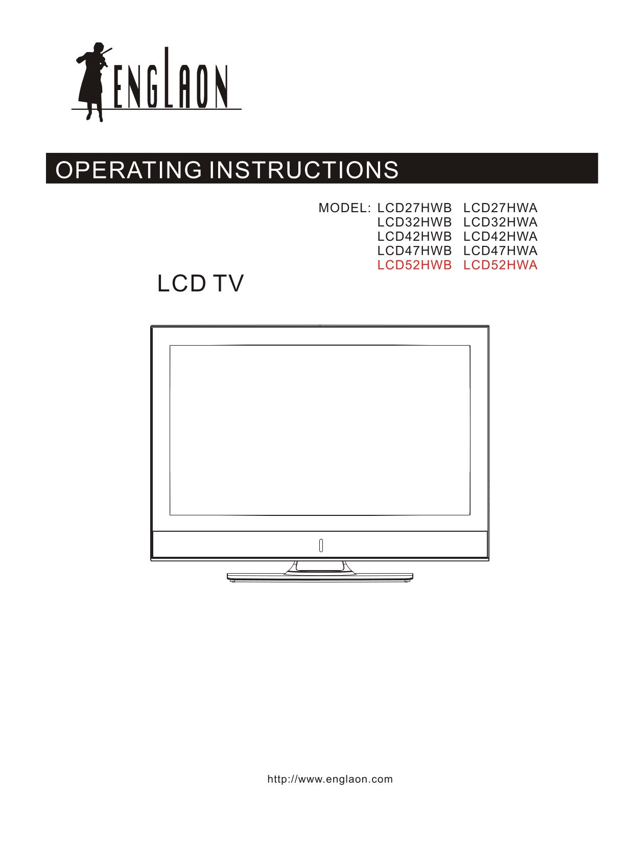 pdf for LG TV RL-JA20 manual