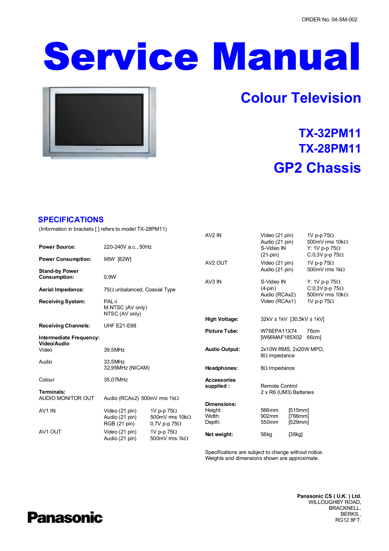 pdf for LG TV RL-JA20 manual