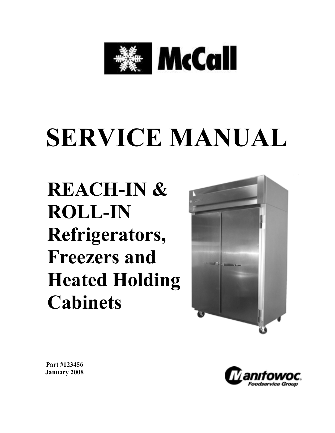pdf for McCall Refrigerator L1-1002 manual