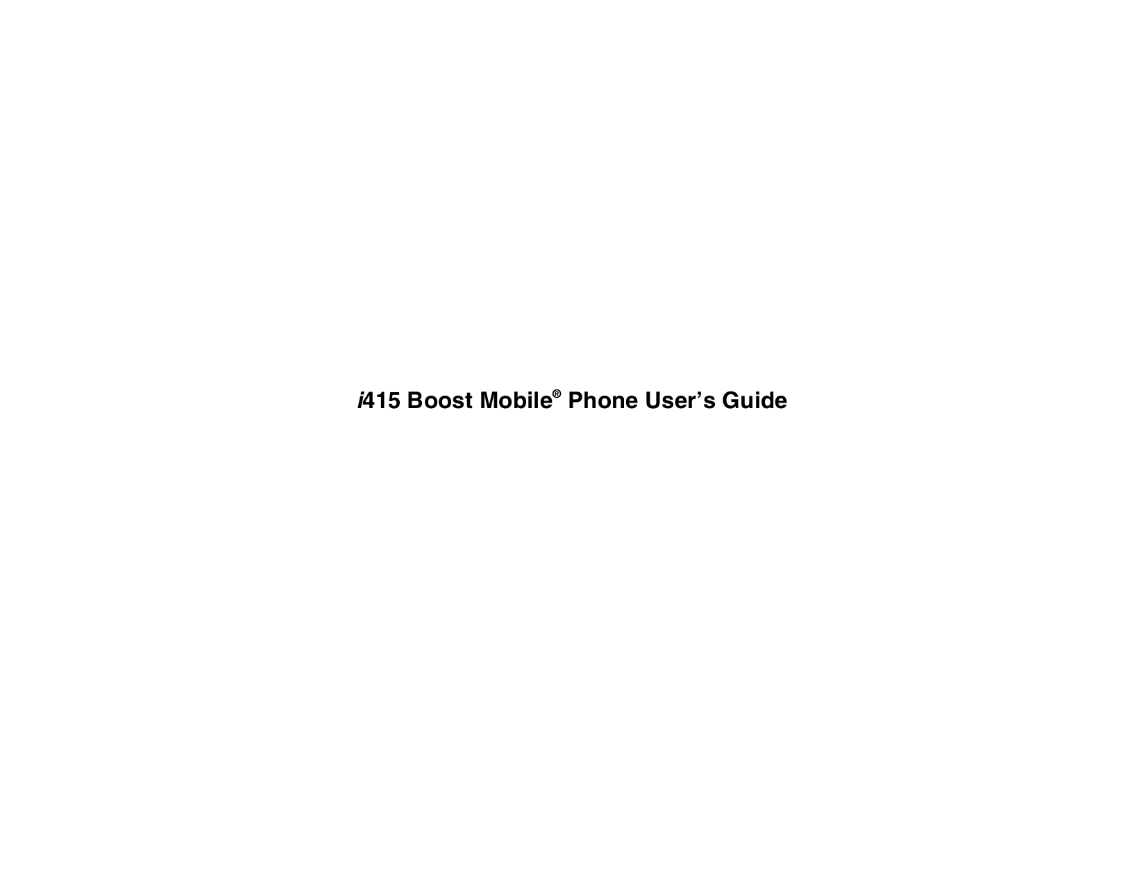 pdf for Samsung Cell Phone SCH-N415 manual