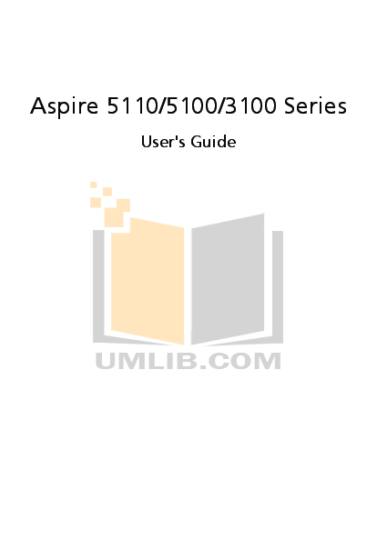 pdf for Acer Desktop Aspire M3100 manual