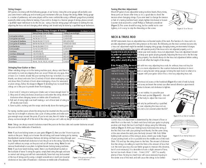 ESP Guitar H-1007 pdf page preview
