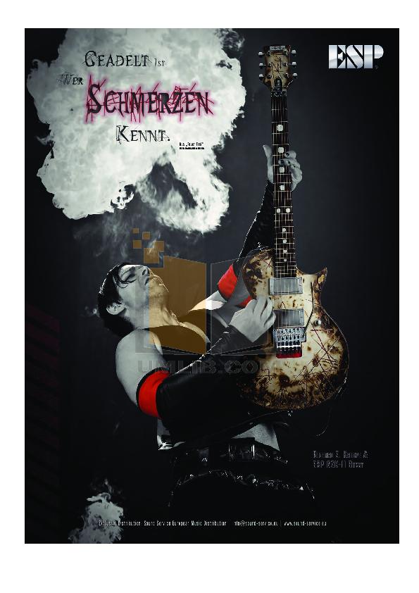 pdf for ESP Guitar H-1007 manual