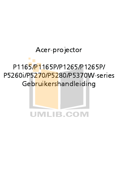 pdf for Acer Projector P5280 manual