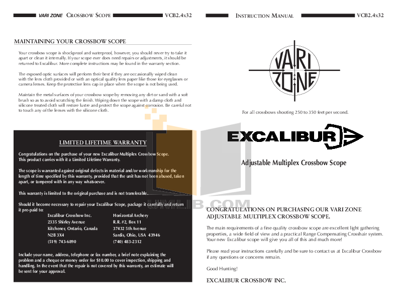 pdf for Excalibur Game Console 381 manual