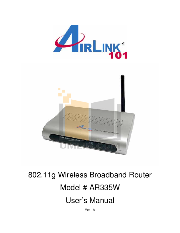 pdf for Airlinkplus Router ASOHO4P manual