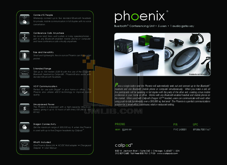 pdf for Callpod Headset Phoenix manual