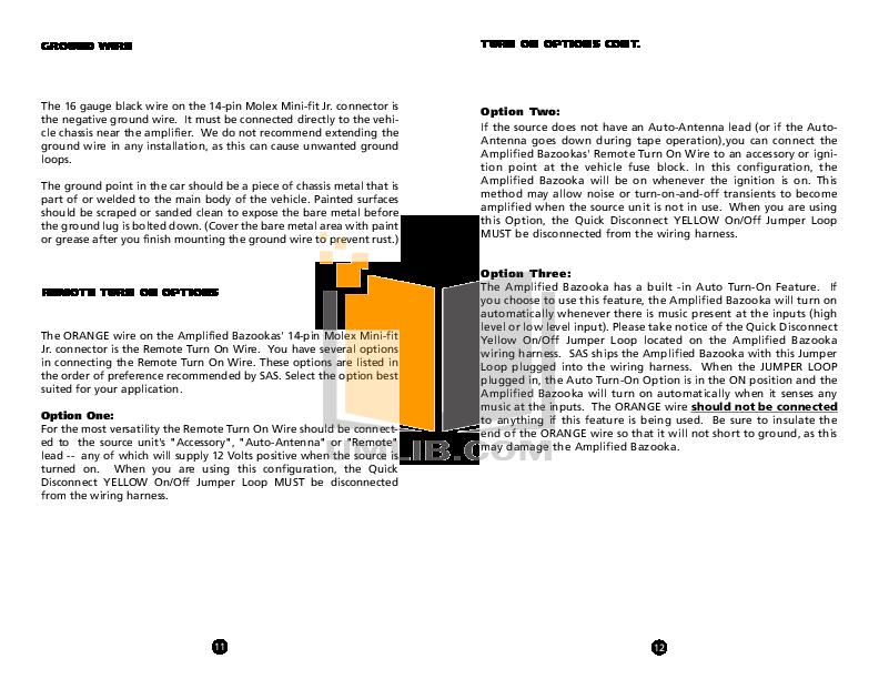 TA850manual.pdf 6 wat pdf manual for bazooka subwoofer el8a bazooka el8a wiring harness at reclaimingppi.co