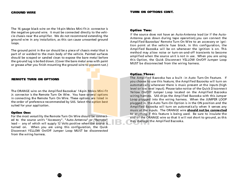 TA850manual.pdf 6 wat pdf manual for bazooka subwoofer el8a bazooka el8a wiring harness at couponss.co