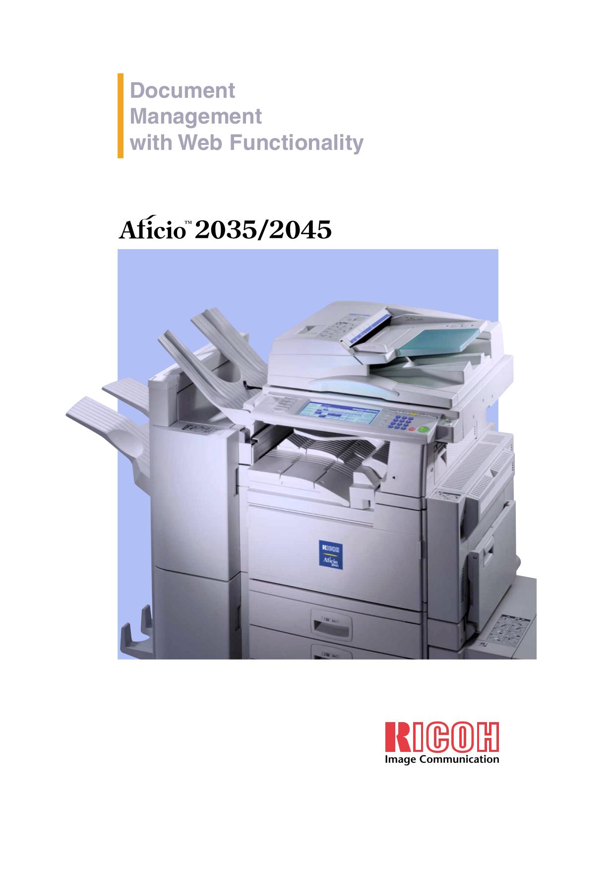 download free pdf for ricoh aficio 2045e copier manual rh umlib com ricoh aficio 2045 driver ricoh aficio 2045e pcl6 driver