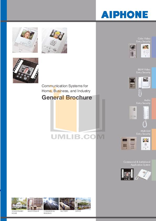 pdf for Aiphone Other DA-4DG Intercoms manual