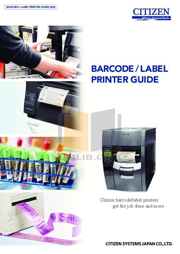 pdf for Citizen Printer CL-S700 manual