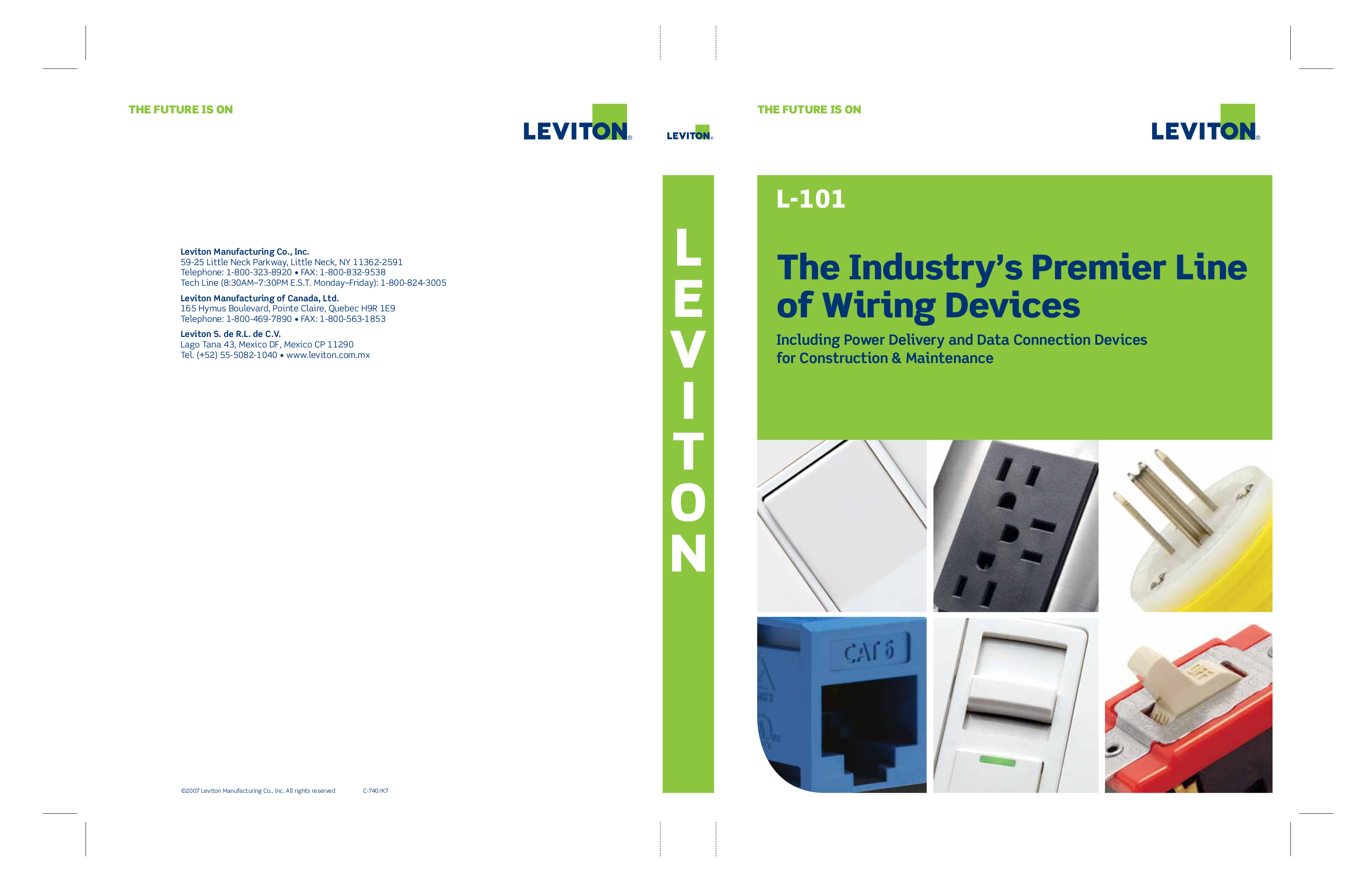 Download free pdf for Leviton 47603-1G6 Telephone and Video Panel ...