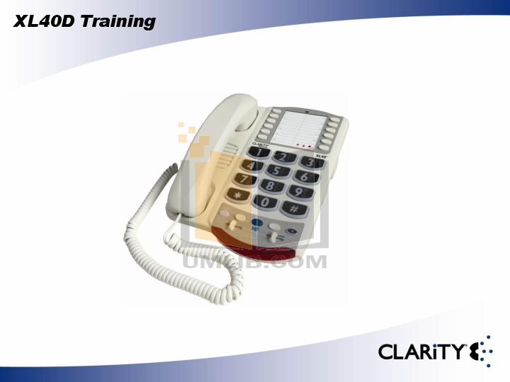 pdf for Clarity Telephone XL40D manual