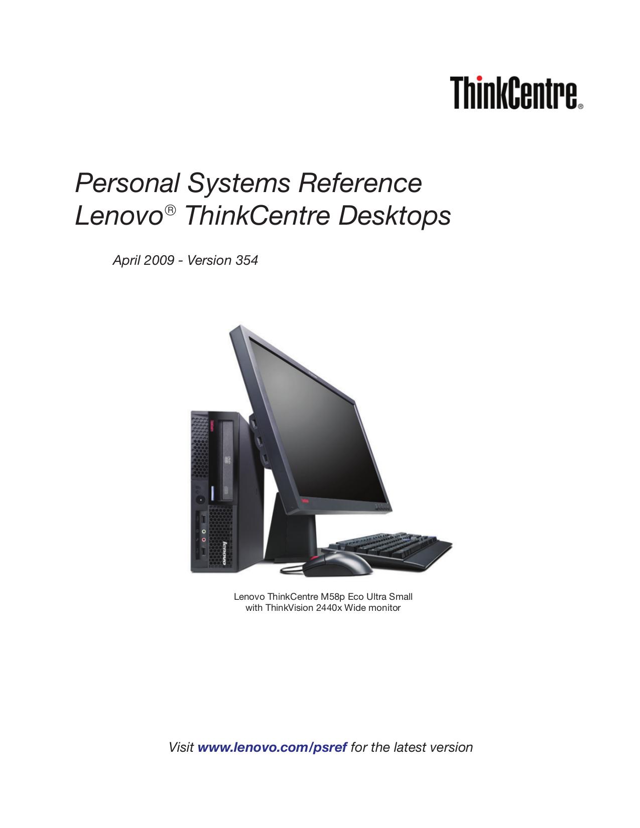 pdf for Lenovo Desktop ThinkCentre M57e 7064 manual