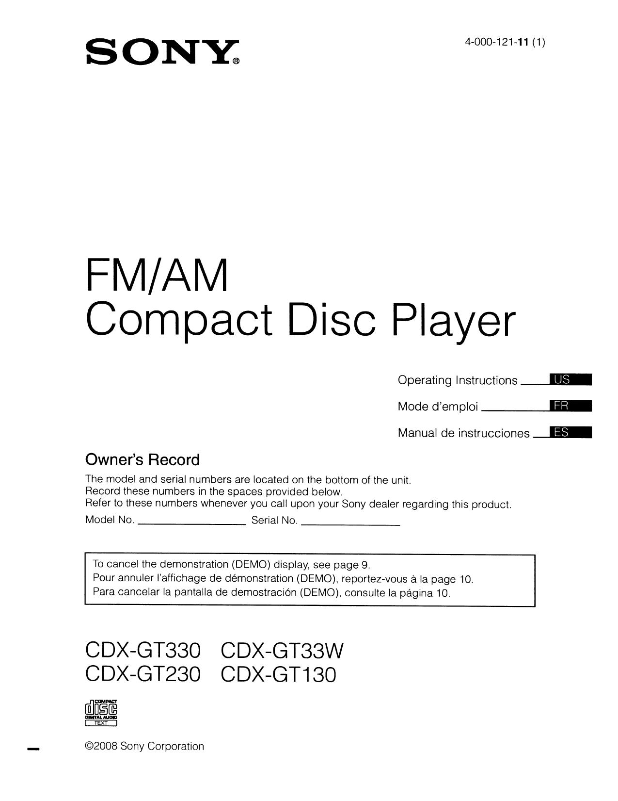 pdf for sony xplod cdx gt cd player manual pdf for sony cd player xplod cdx gt230 manual