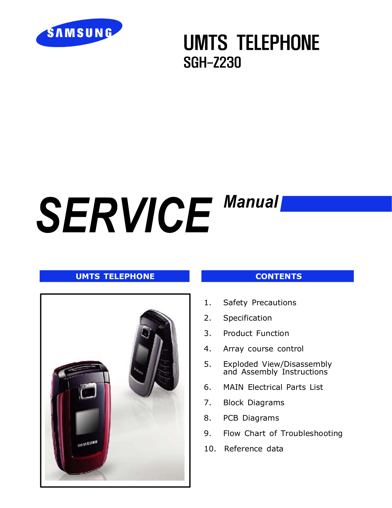 pdf for Samsung Cell Phone SGH-Z230 manual