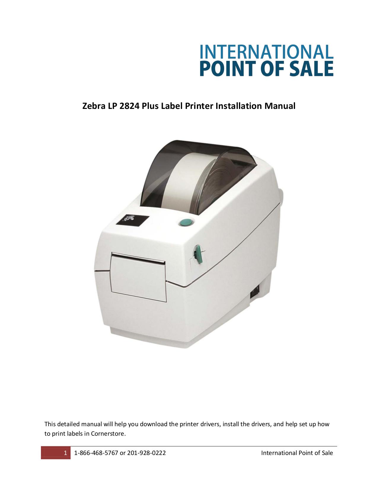 Download free pdf for Zebra TLP 2824 Plus Printer manual