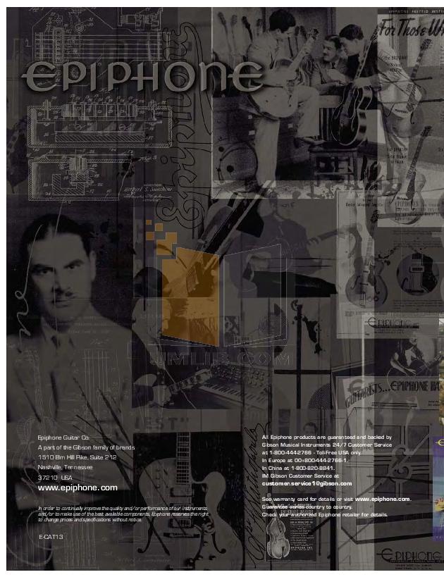 Download free pdf for Epiphone Les Paul Black Beauty 3 Guitar manual