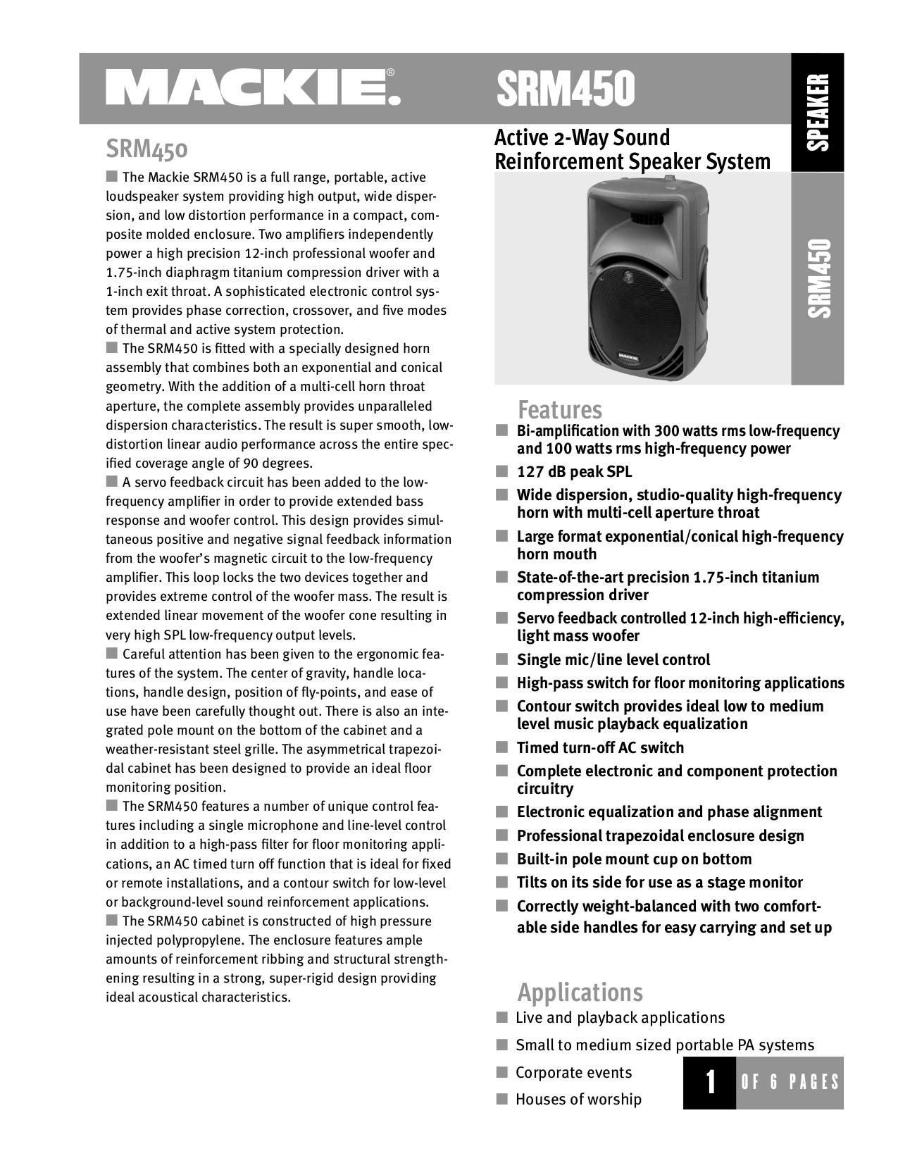 download free pdf for mackie srm450 speaker system manual rh umlib com mackie srm 450 v1 service manual mackie srm450 review