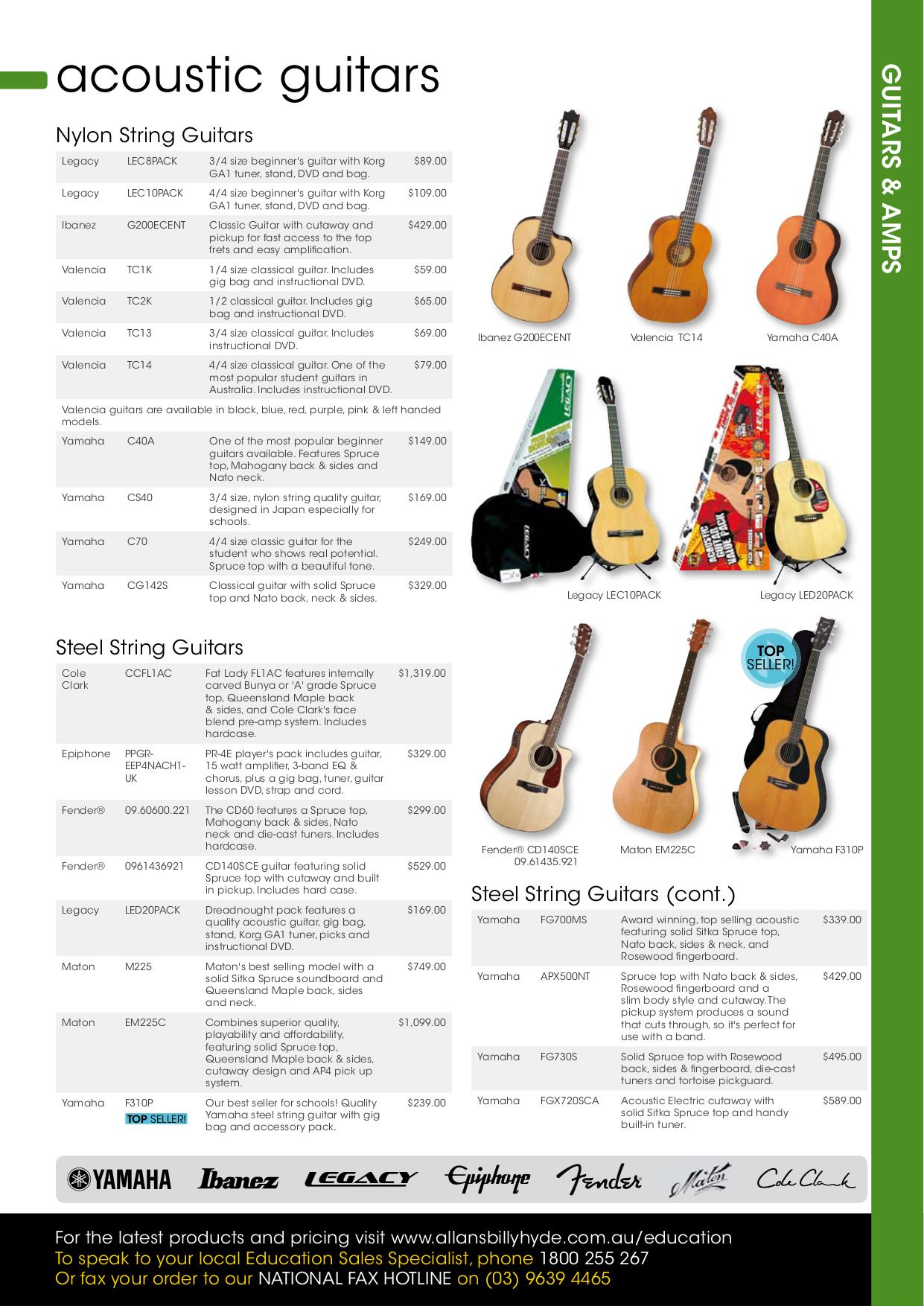 pdf for Yamaha Guitar C40A manual