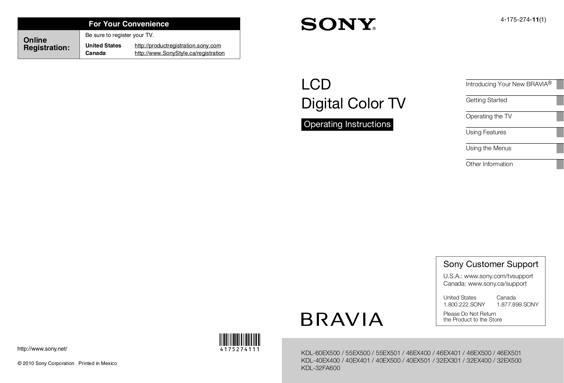 download free pdf for sony bravia kdl 32ex400 tv manual rh umlib com sony bravia kdl-32ex400 manual sony bravia kdl-32bx400 manual