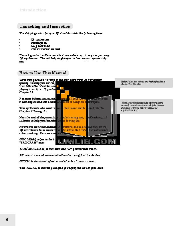 Alesis Speaker QS8 pdf page preview