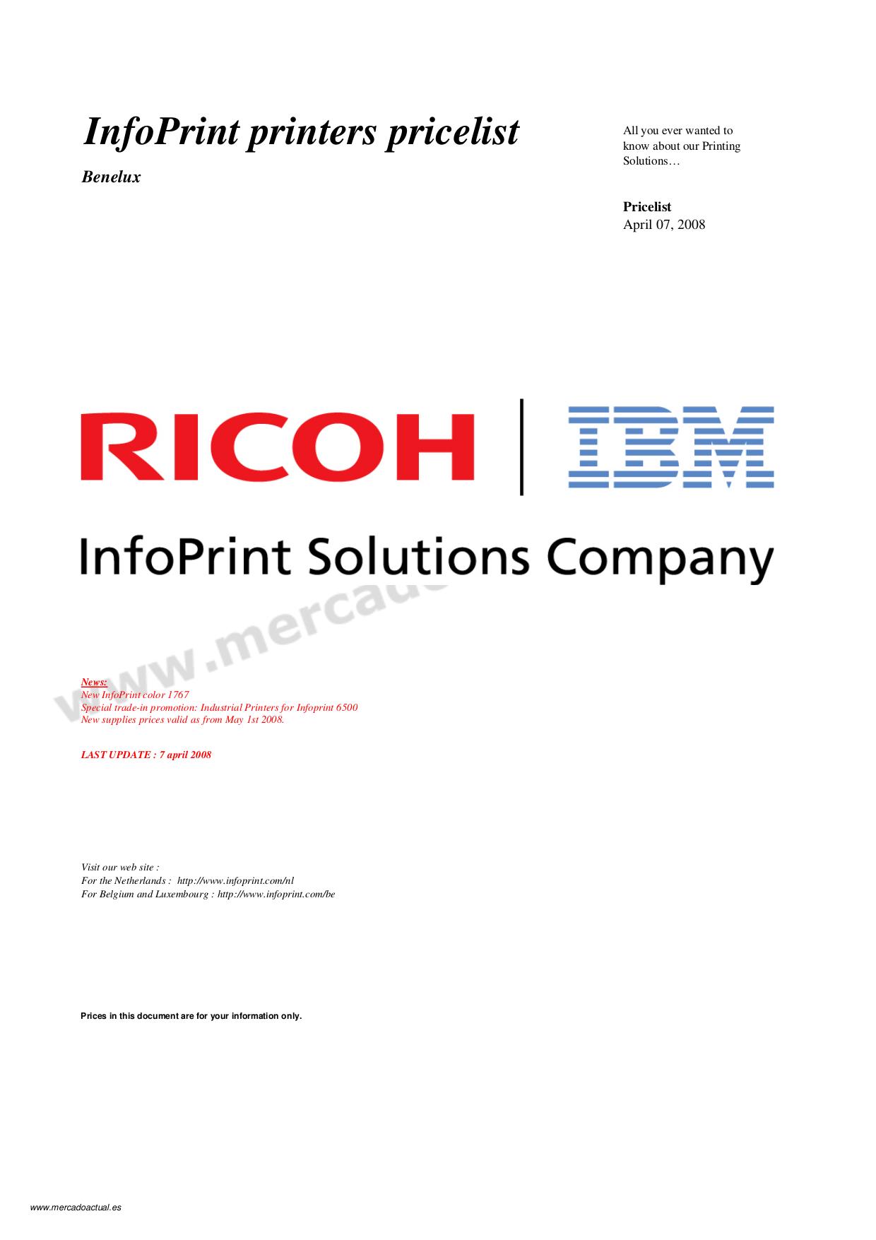 pdf for IBM Multifunction Printer InfoPrint 1759 manual