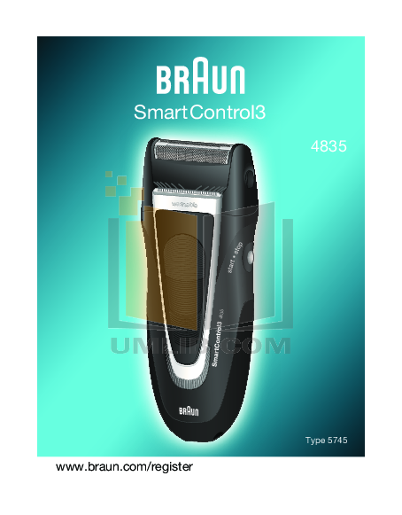 pdf for Braun Other SmartControl3 4835 Shavers manual