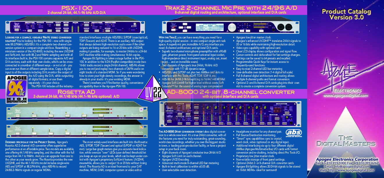 Download Free Pdf For Apogee Psx 100 Converters Other Manual