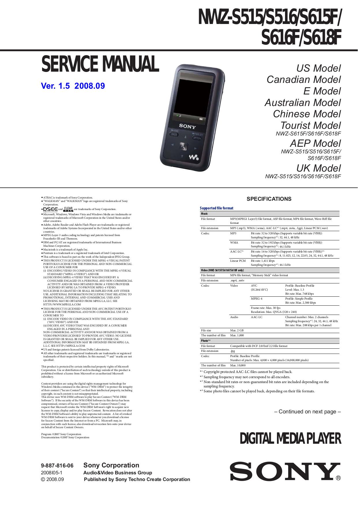 download free pdf for sony walkman nwz s515 mp3 player manual rh umlib com sony walkman sports mp3 player manual sony mp3 player manual nwz-e385