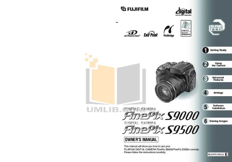 Download free pdf for FujiFilm Finepix S9000 Digital Camera
