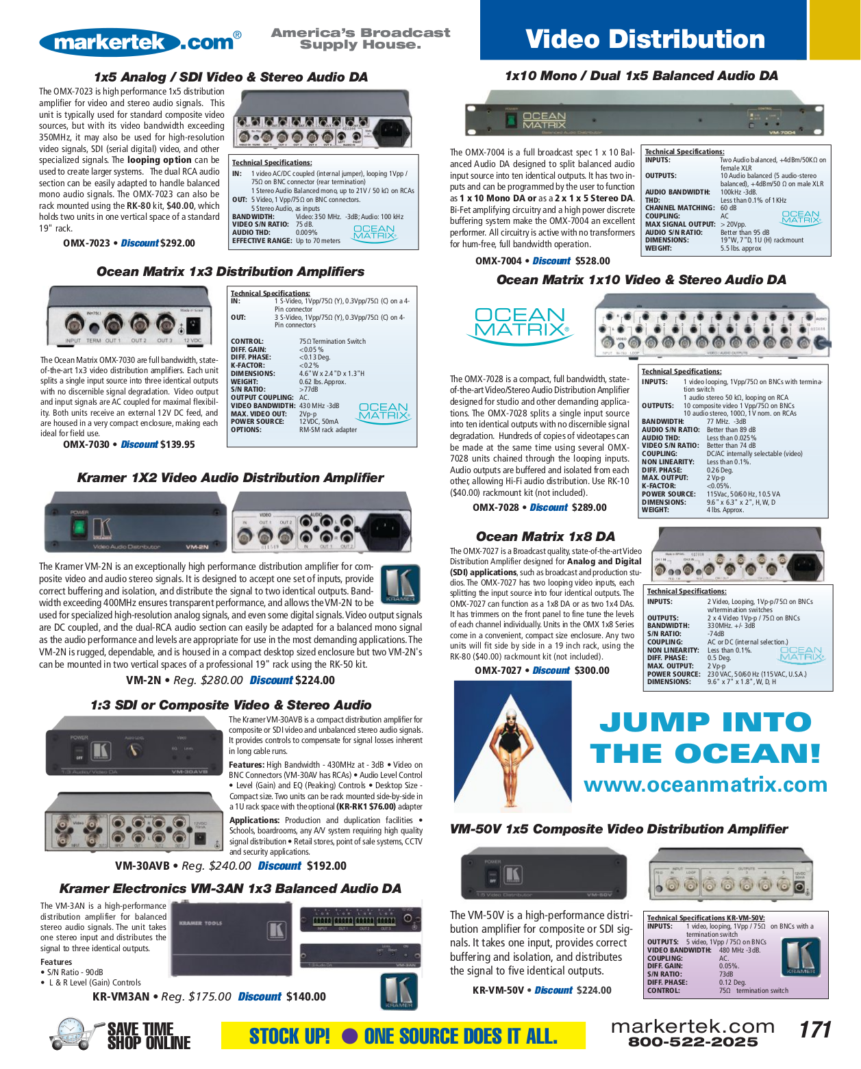 pdf for Kramer Other VM-50V Distribution Amplifiers manual