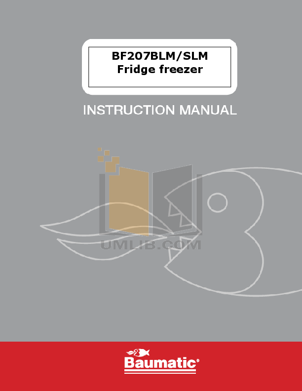 pdf for Baumatic Freezer BF207SLM manual