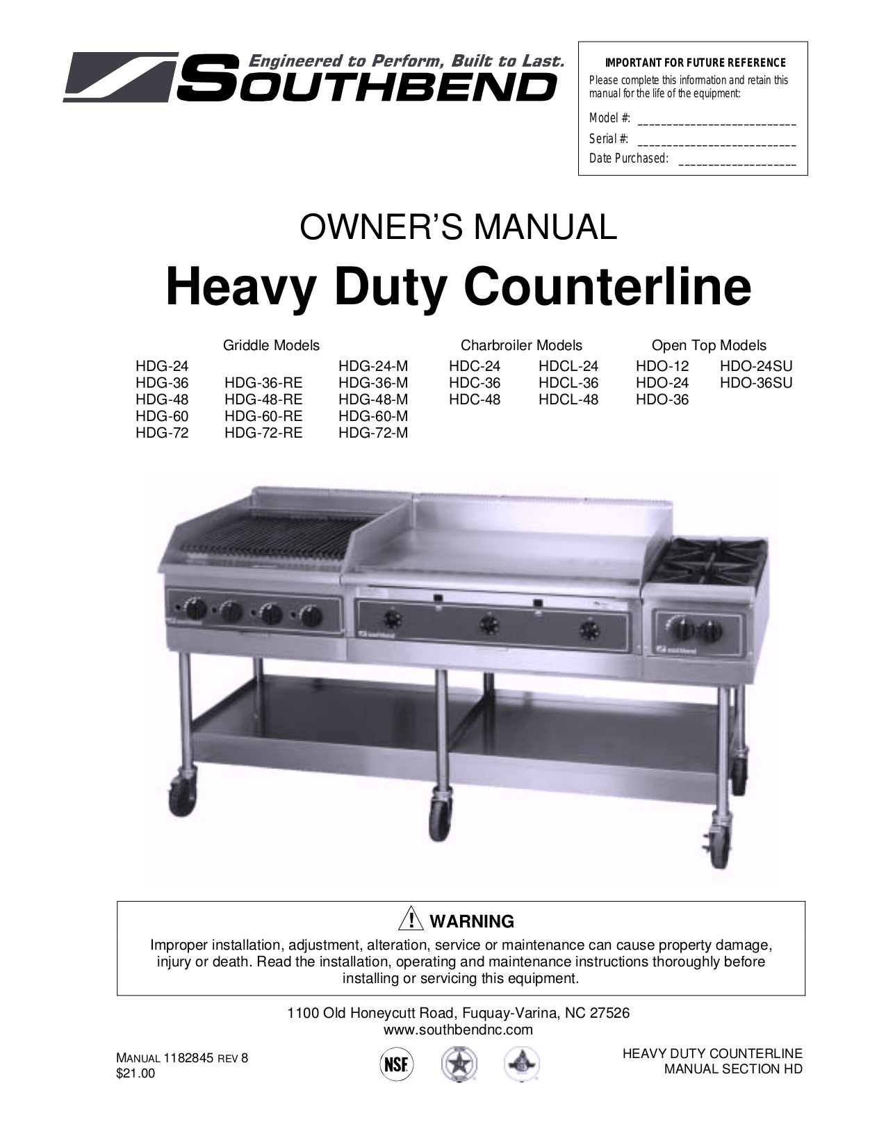 pdf for Southbend Other S-60 Broilers manual