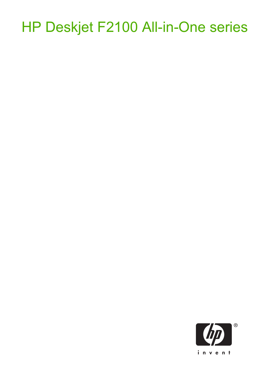 pdf for HP Multifunction Printer Deskjet F2180 manual