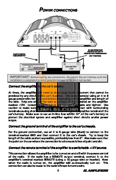 pdf manual for bazooka car amplifier ela500 1 rh umlib com 600W Bazooka Amplifiers Bazooka 500 Watt Amplifiers