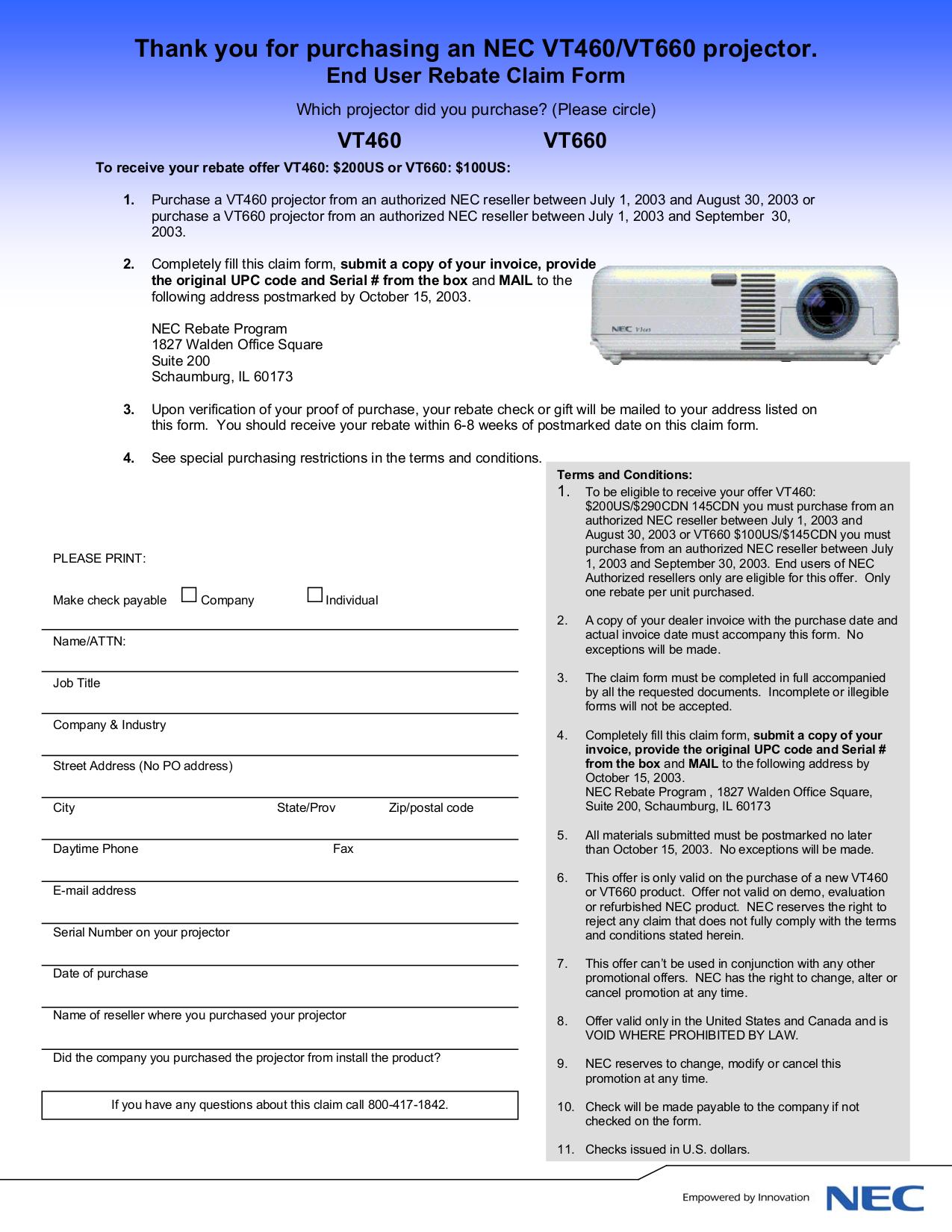 download free pdf for nec vt660 projector manual rh umlib com Akai TV Manual One for All Manual