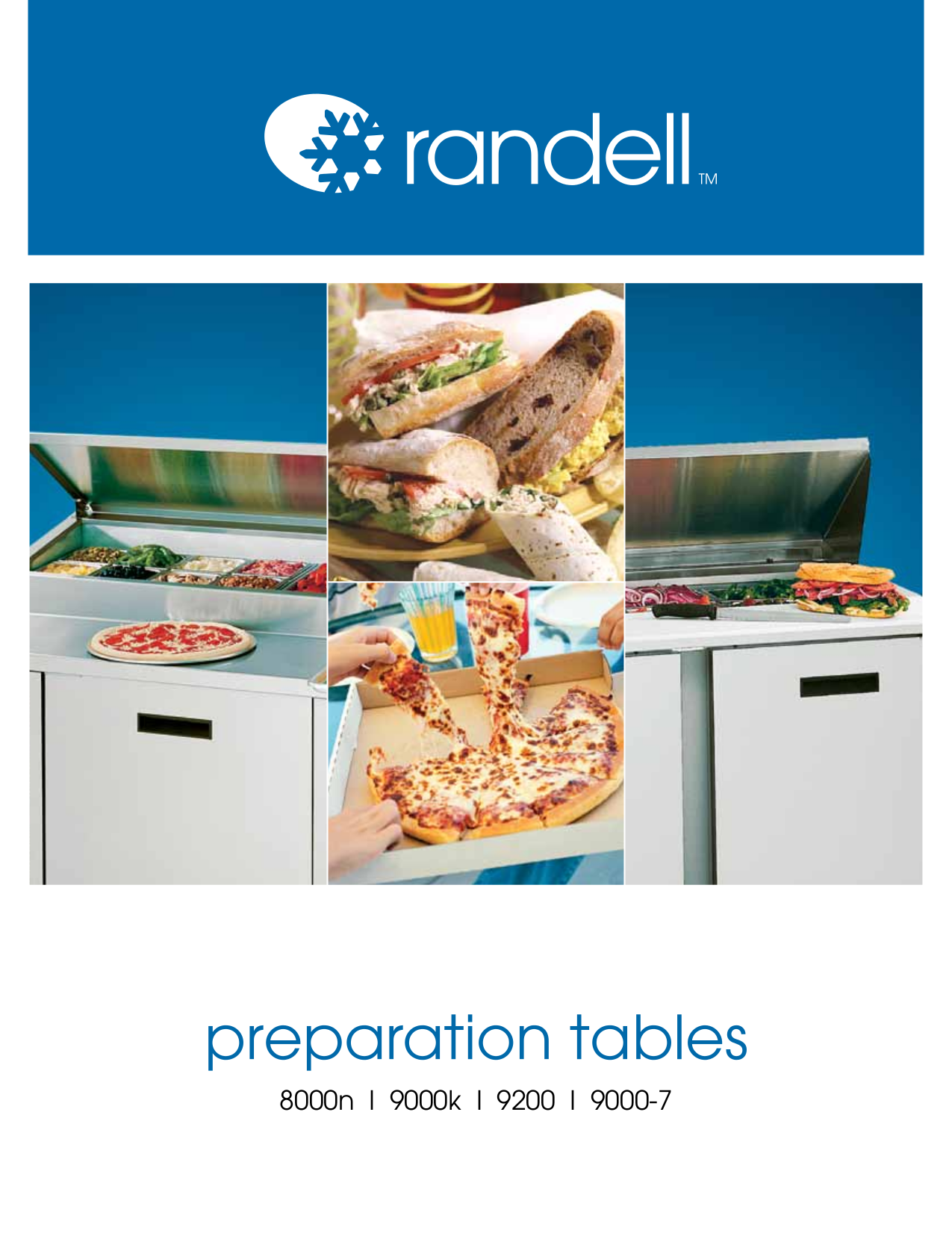pdf for Randell Other 9404-32-7 Food Prep Table manual