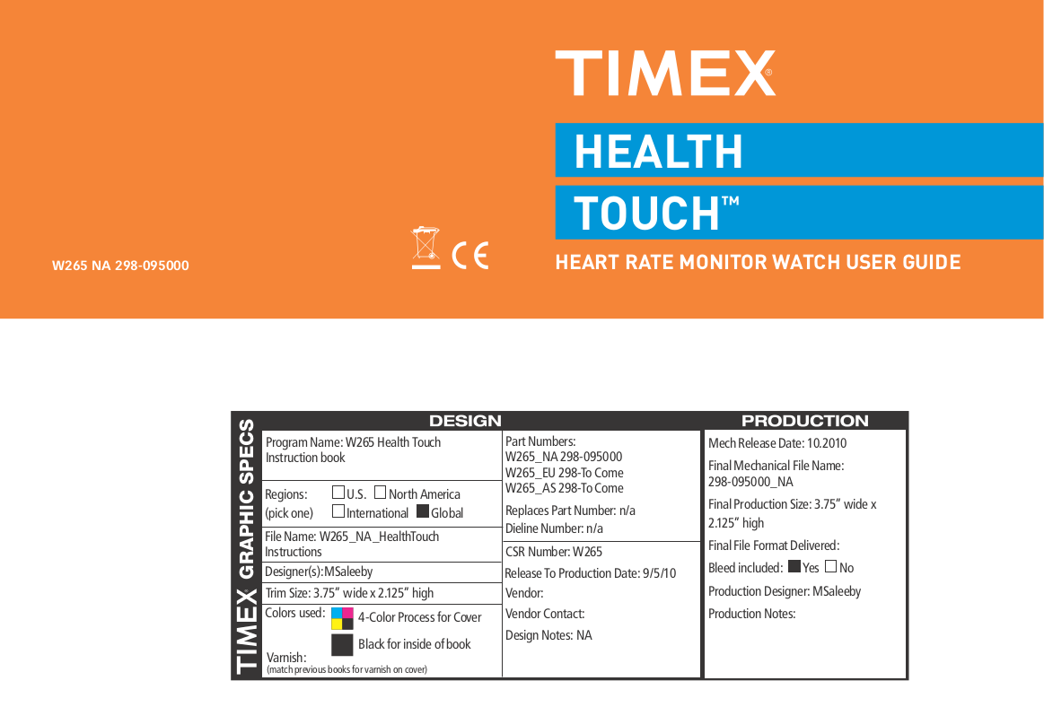 download free pdf for timex t5k237 watch manual