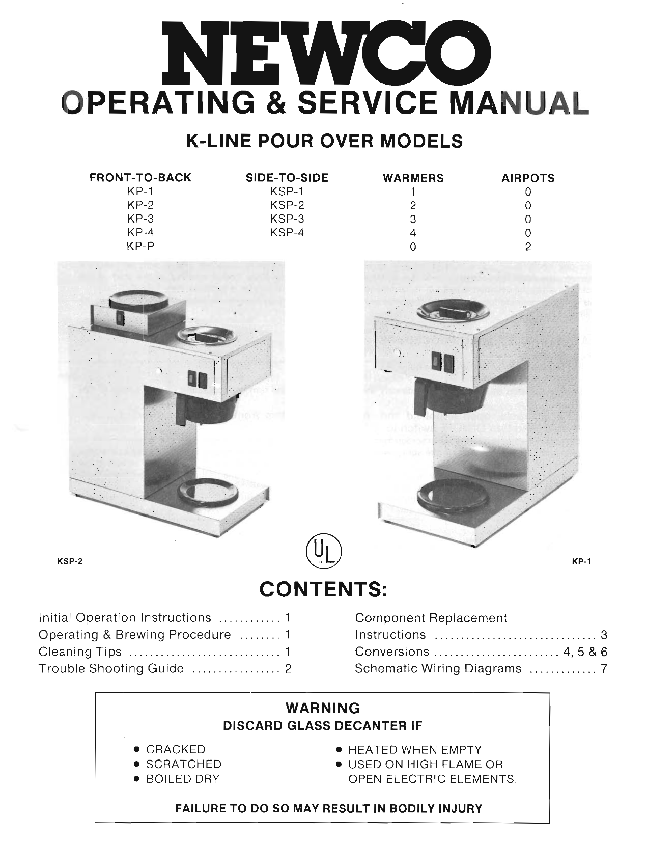 Newco Coffee Maker Parts Manual For Wiring Diagram Download Free Pdf Ak Ld